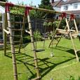 LARGE WOODEN CLIMBING FRAME