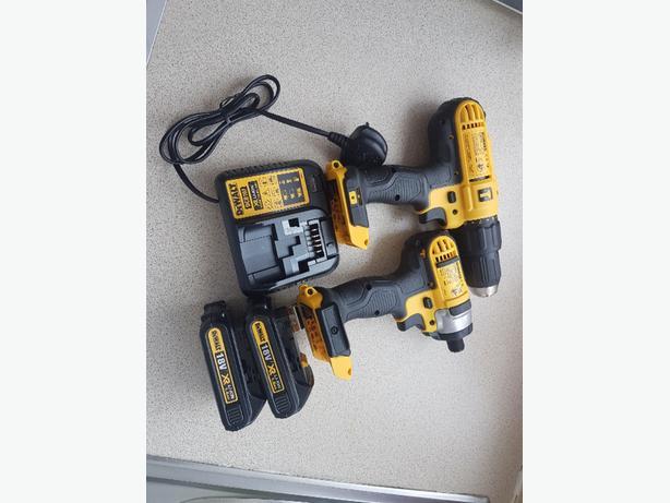 2x Dewalt 18v xr brushless drill set
