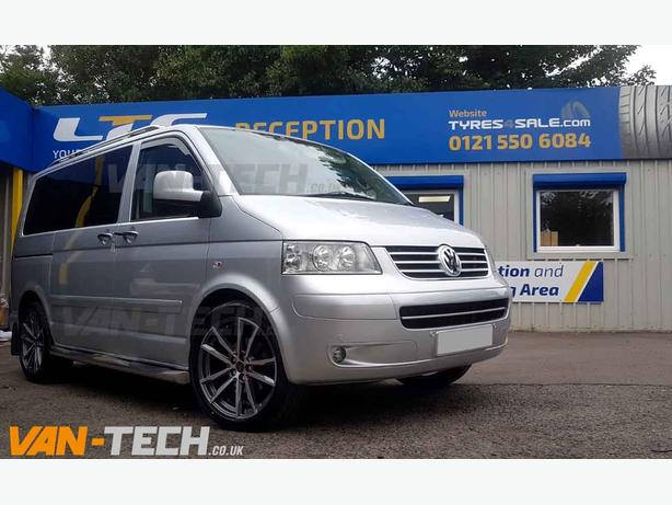 VW T5 T5.1 T6 Wolfrace Dortmund 20″ Alloy Wheels Gun Metal / Polished