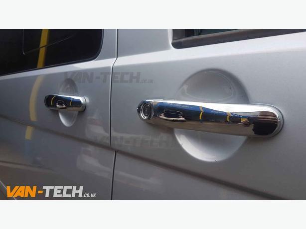 VW T5 T6 Door Handle Cover Set Stainless Steel 3 Door