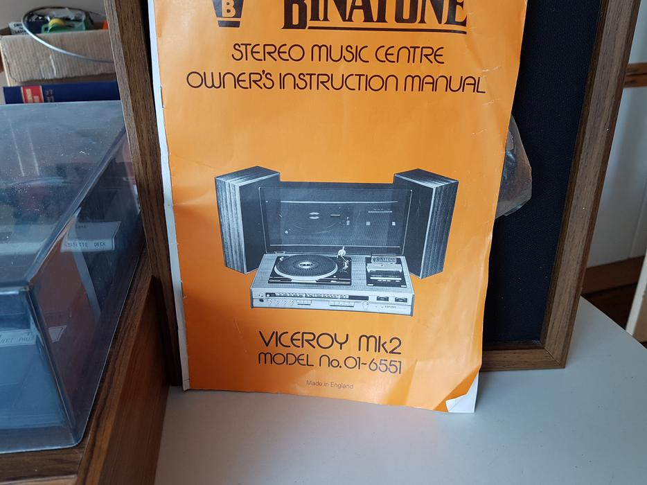 Vintage 70s Binatone Hifi Stereo Music Center Vinyl Record