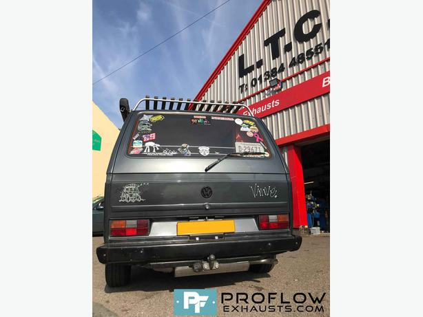 VW T25 fitted with a Prolfow Exhausts Custom Built Exhaust System