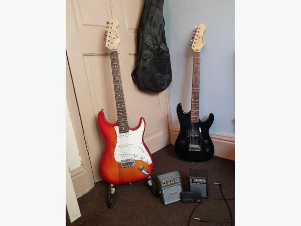 2 Electric Guitars plus extras