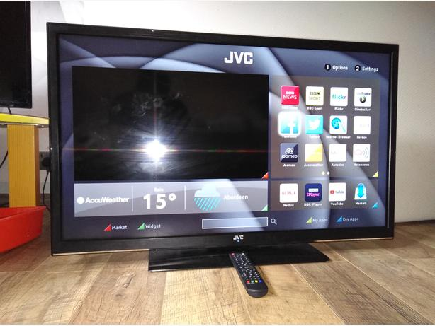  Log In needed £185 · JVC 40 inch LED Smart TV with WiFi, Apps and  FreeviewHD