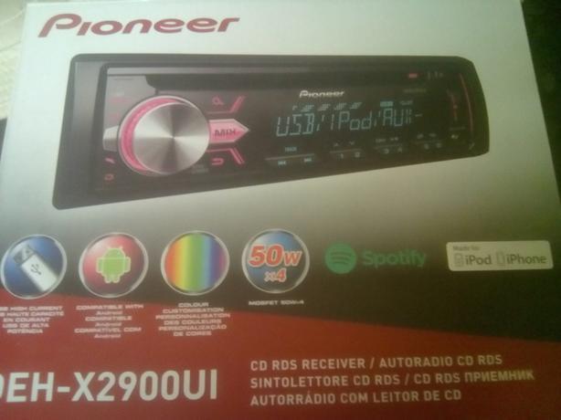 Pioneer deh x2900ui