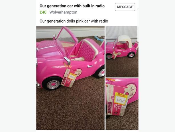 Our Generation Car with radio