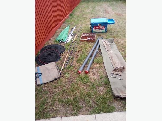 Job lot of fishing equipment