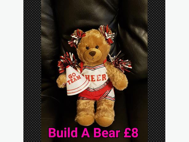 Build A Bear With Cheerleader Outfit.