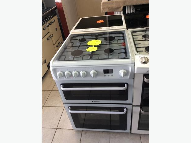 NEW Hotpoint HAGL60P Double Oven Gas Cooker with WARRANTY | RRP £397