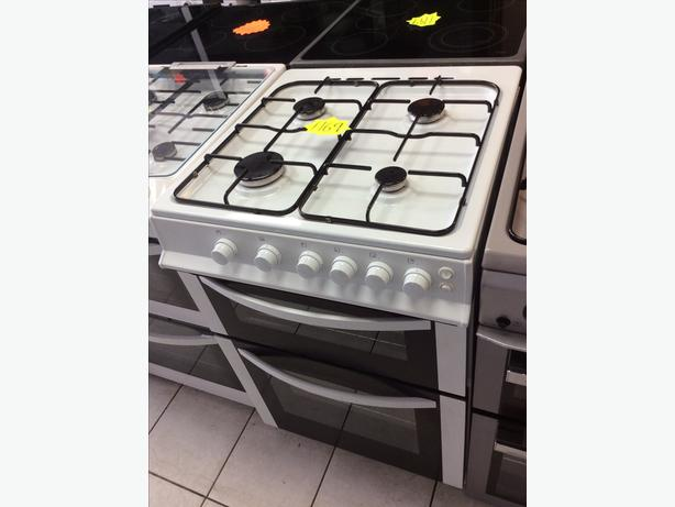 Logik LFTQ60W12 White Double Oven Gas Cooker with 4 MONTHS WARRANTY