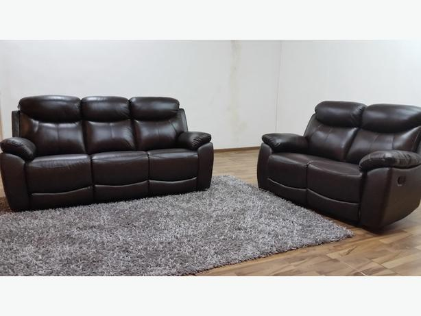 Brand New 3 seater + 2 seater Recliner Sofa Sets Leather Mix