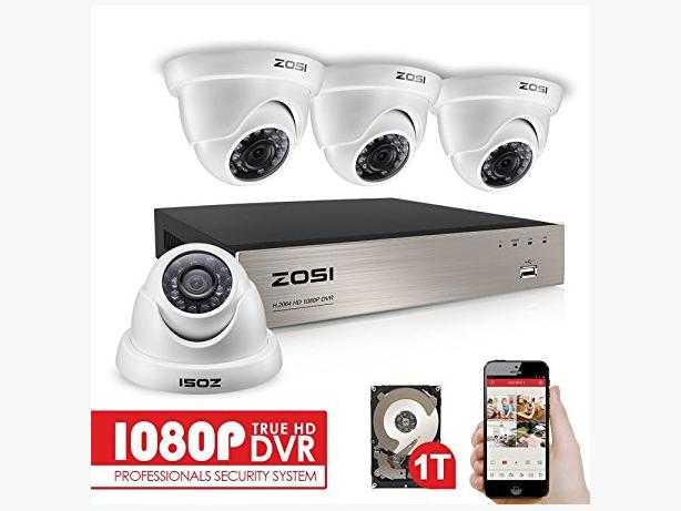 4 FULL HD DOME CAMERAS & FULL HD DVR FULLY INSTALLED