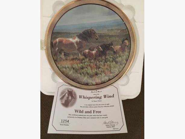 Danbury Mint Horse Plates