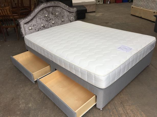 low priced 7ba8a 515e7  Log In needed £145 · JOHN LEWIS 4 DRAWER KING SIZE BED, POCKET MATTRESS &  VELVET H\BOARD ~~ DELIVERY