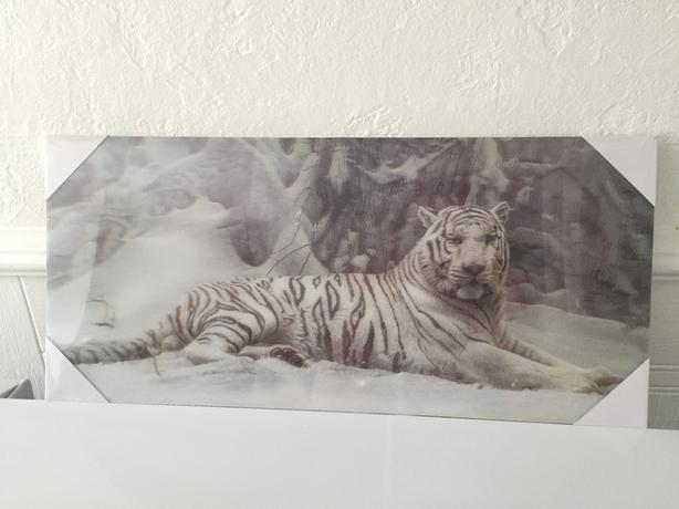 Holographic White Tiger Picture