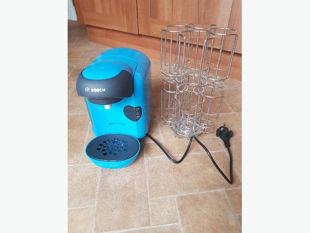 Blue Bosch Tassimo Vivy Coffee Machine And Pod Holder