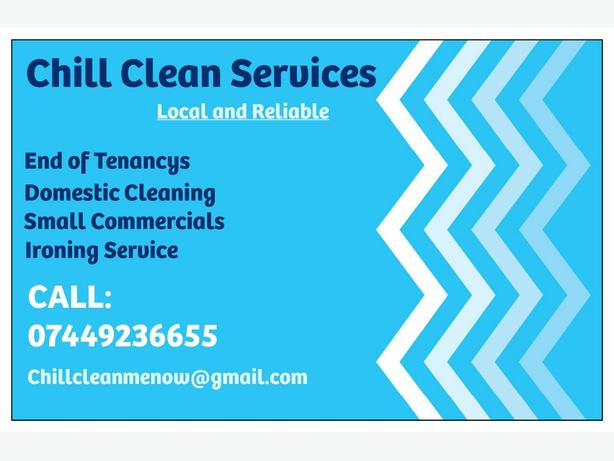 Chill Clean Services- Domestic and Commercial cleans
