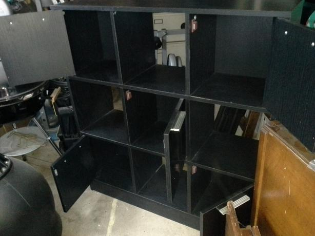 Black 9 cube storage unit