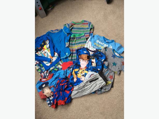 Aged 4-5 year pyjama bundle