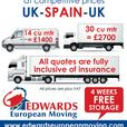 Edwards European Moving - 4 Weeks Free Storage