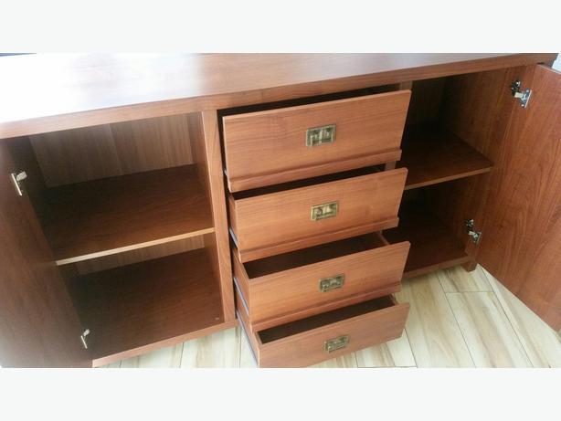 Tall Glazed Narrow Display Cabinet Unit