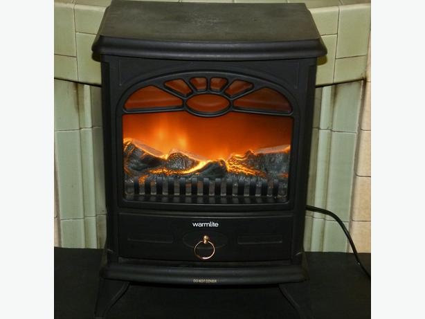 Warmlite Electric Fire Log Effect Heater 2 heat set