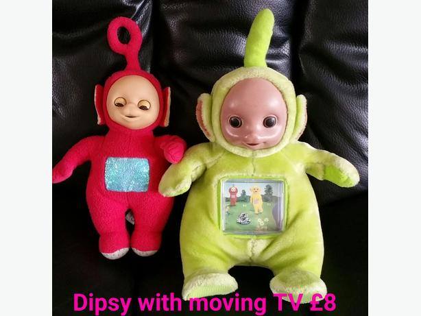 Telly Tubbies Dispy With Moving Tv