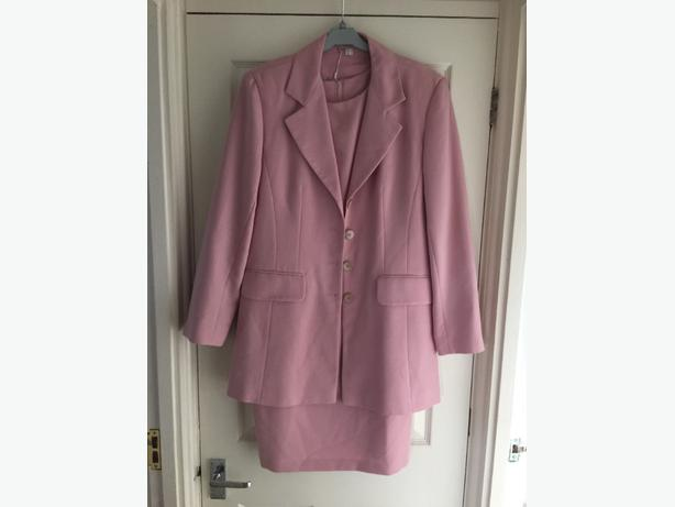 Miss Smith baby/dusky pink dress and jacket, size 12 - new!