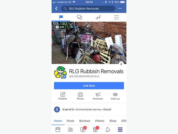 RLG rubbish removals WALSALL, Wolverhampton