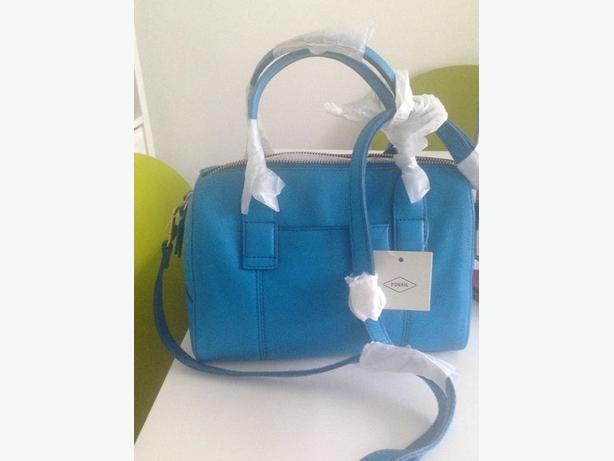 Fossil leather handbag (new)