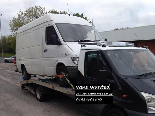 top prices paid for vans - call 01902399912 or 07414801870.