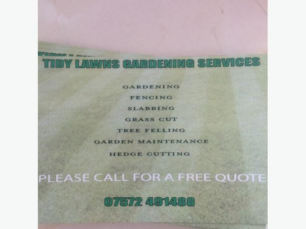 tidy lawns landscaping and property maintenance