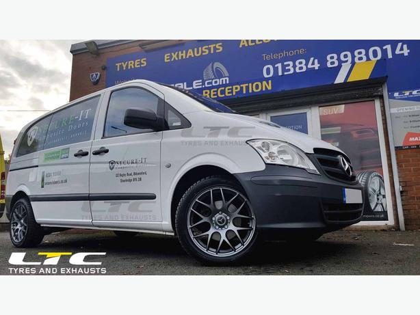 """Mercedes Vito fitted with a set of MS007 FX 18"""" Alloy Wheels"""