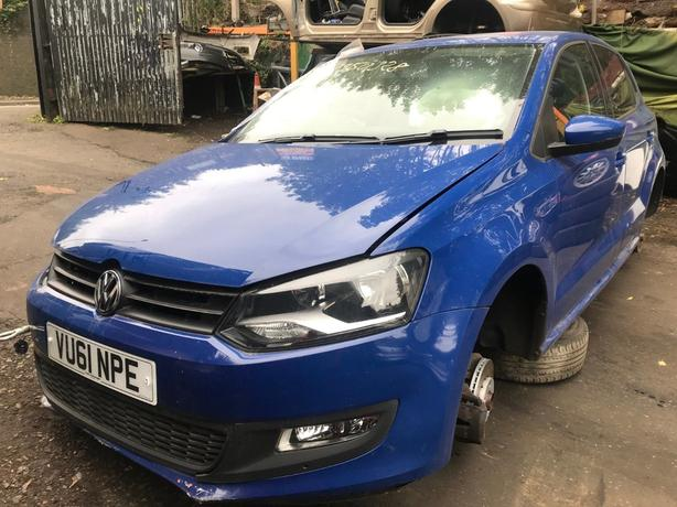 VW Polo 2012 1.4 petrol blue 5dr CODE CGGB - breaking