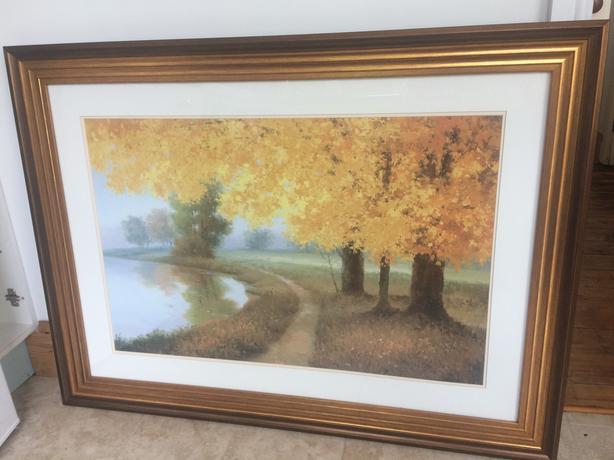 Painting print Meadow Lake by Samuel art beautiful frame