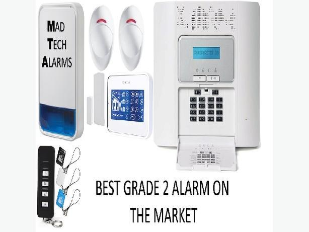 GRADE 2 HOUSE BURGLAR ALARM SYSTEM WITH PHONE DIALLER
