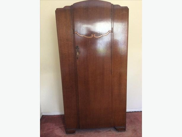 Art Deco single wardrobe