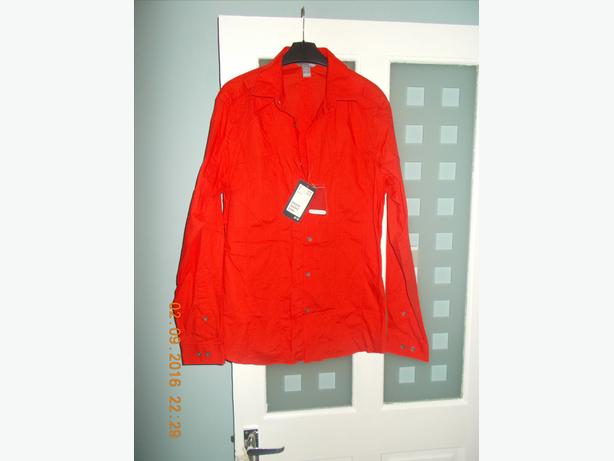 H&M Red Shirt Slim Fit Long Sleeved BNWT Size M