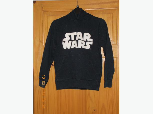 Star Wars Black Hooded Top Boys 10yrs by Next