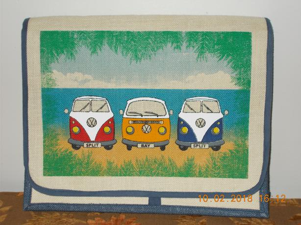 VW Camper Van Design Canvas Bag/Laptop Bag