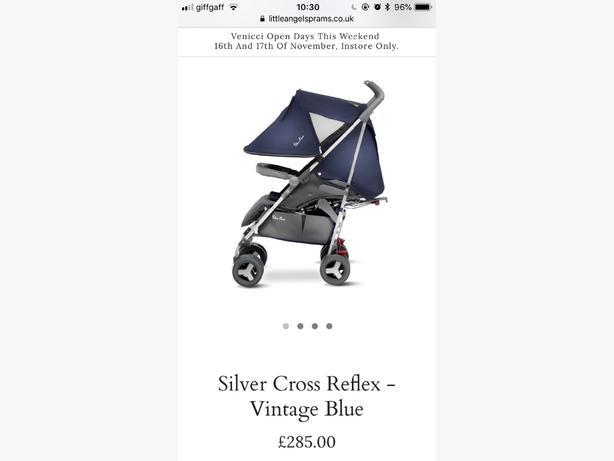 silvercross reflex vintage blue addition