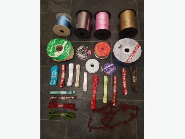 joblot bundle ribbon christmas florists etc