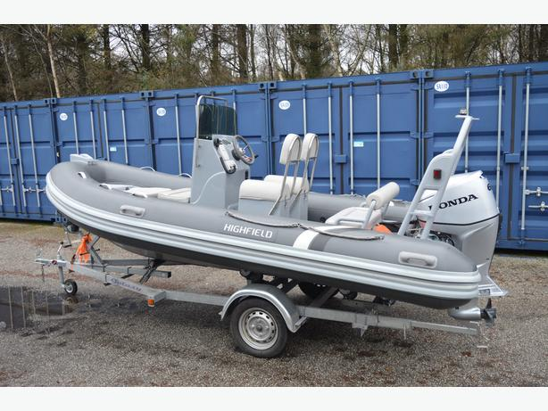 HIGHFIELD 460 DV RIB BOAT 4.6 MTR WITH TRAILER