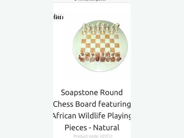 soap stone chess board and set