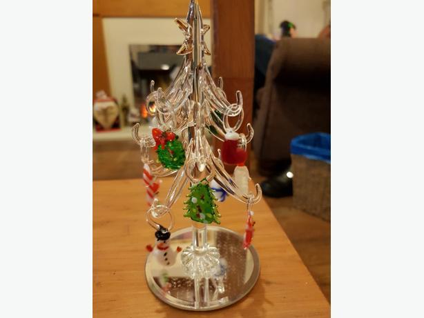 glass xmas tree