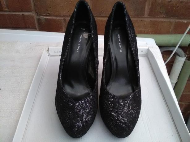 New look Black and Silver Lace shoes