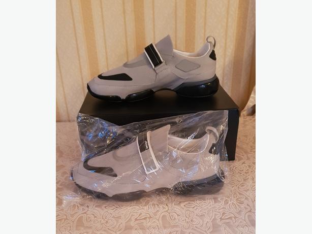 Prada Coudbust Gray Sneakers/Shoes (NEW) **PRICE DROP