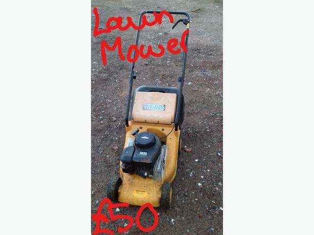 Yellow Petrol Lawn Mower