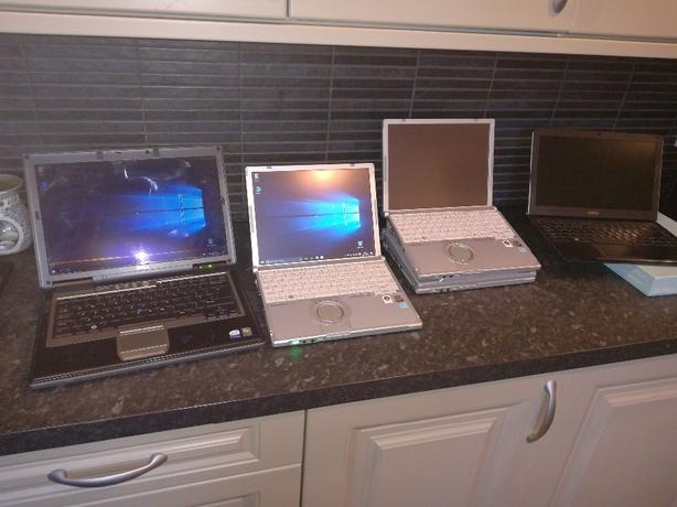 Job lot of 5 working laptops