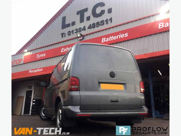 Side Bars and Custom Exhaust for VW Transporter T5